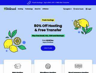 siteground.com screenshot