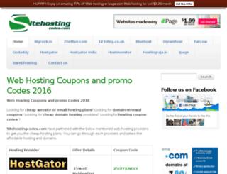 sitehostingcodes.com screenshot