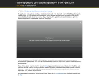 sitemail.hostway.com screenshot