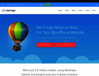 siteorigin.com screenshot