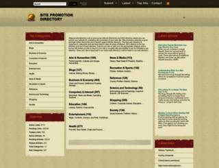 sitepromotiondirectory.com screenshot