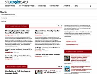 sitereportcard.com screenshot