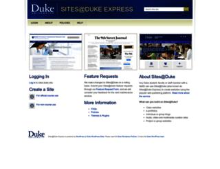 sites.duke.edu screenshot