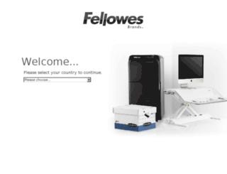 sites.fellowes.com screenshot
