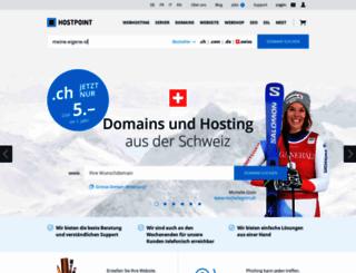 sites.hostpoint.com screenshot