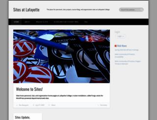 sites.lafayette.edu screenshot
