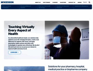 sites.mckesson.com screenshot