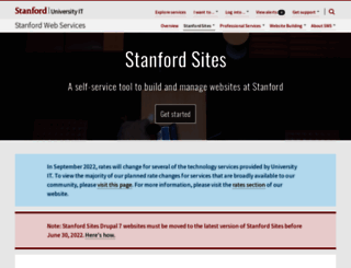 sites.stanford.edu screenshot