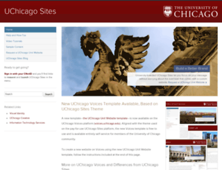 sites.uchicago.edu screenshot