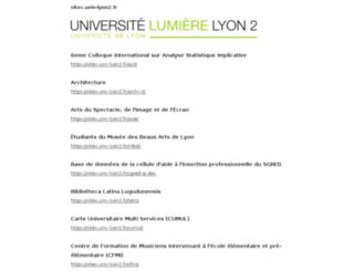 sites.univ-lyon2.fr screenshot