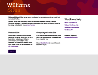 sites.williams.edu screenshot
