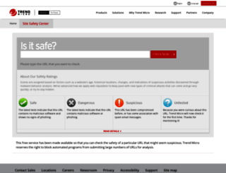 sitesafety.trendmicro.com screenshot