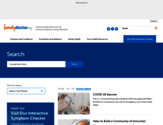 sitesearch.familydoctor.org screenshot