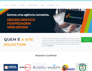 sitesoluction.com.br screenshot