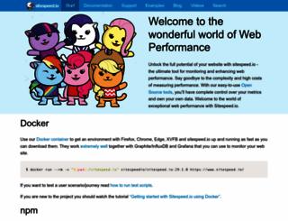 sitespeed.io screenshot