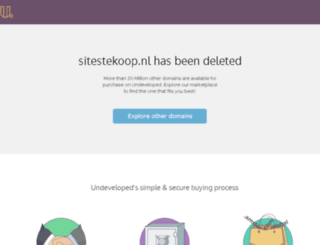 sitestekoop.nl screenshot