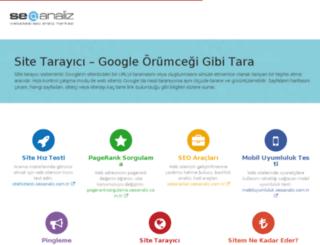 sitetarayici.seoanaliz.com.tr screenshot