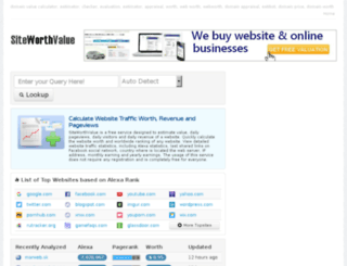 siteworthvalue.com screenshot