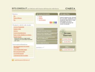 sito.cineca.it screenshot