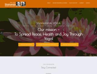 sivanandayogaranch.org screenshot
