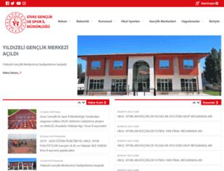 sivas.gsb.gov.tr screenshot
