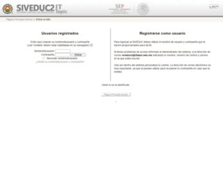 siveduc2.ittepic.edu.mx screenshot