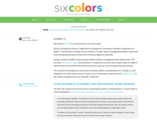 sixcolors.org screenshot