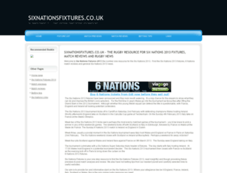 sixnationsfixtures.co.uk screenshot