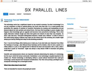 sixparallellines.com screenshot