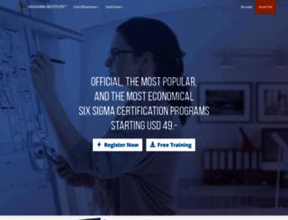 sixsigma-institute.org screenshot