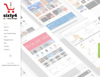 sixty4ebayshopdesign.com screenshot