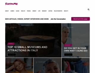 sixtyandme.com screenshot