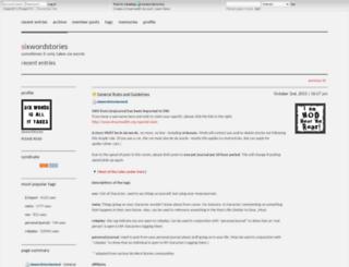 sixwordstories.dreamwidth.org screenshot