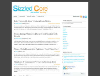 sizzledcore.com screenshot