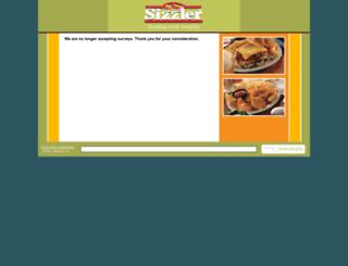 sizzlersurvey.com screenshot