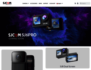 sjcam.com screenshot