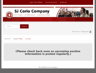 sjcorio.hibid.com screenshot