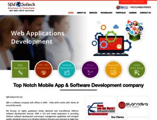 sjmsoftech.com screenshot