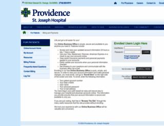 sjo.patientcompass.com screenshot