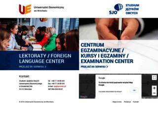 sjo.ue.wroc.pl screenshot