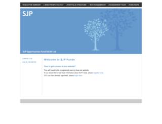 sjpfunds.com screenshot