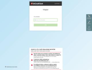 sk.unicreditbanking.net screenshot
