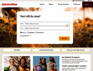 skanetrafiken.se screenshot