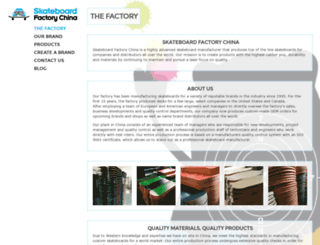 skateboard-factory-china.com screenshot