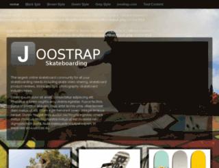 skateboarding.joostrap.com screenshot