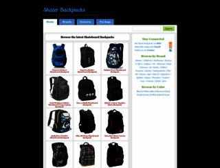 skater-backpacks.com screenshot