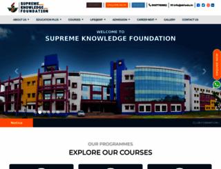 skf.edu.in screenshot