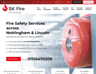 skfireprotection.co.uk screenshot