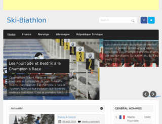 ski-biathlon.fr screenshot
