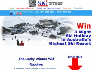 ski-holidays.com.au screenshot